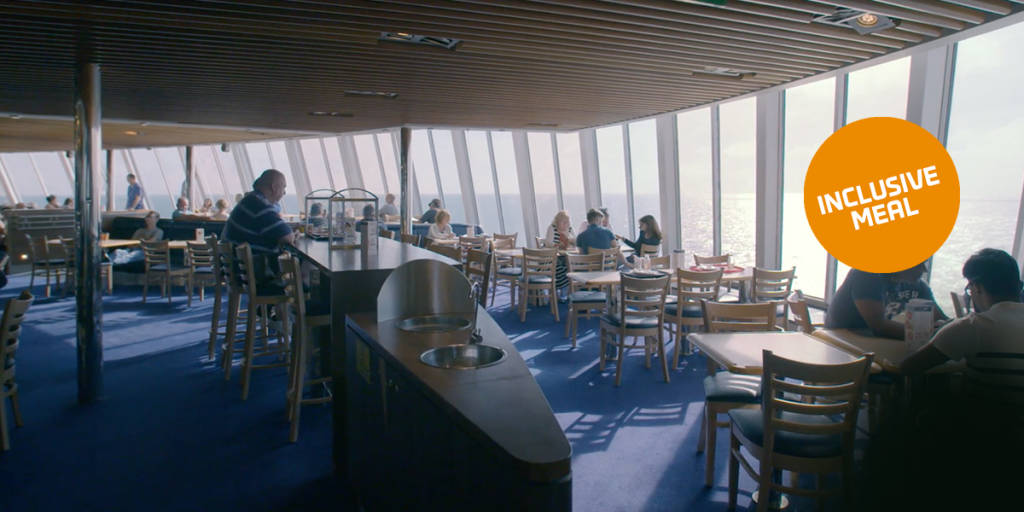 7 Seas restaurant ombord Dover-Frankrig