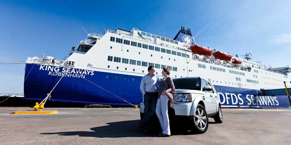 Couple travelling by car on DFDS ferry