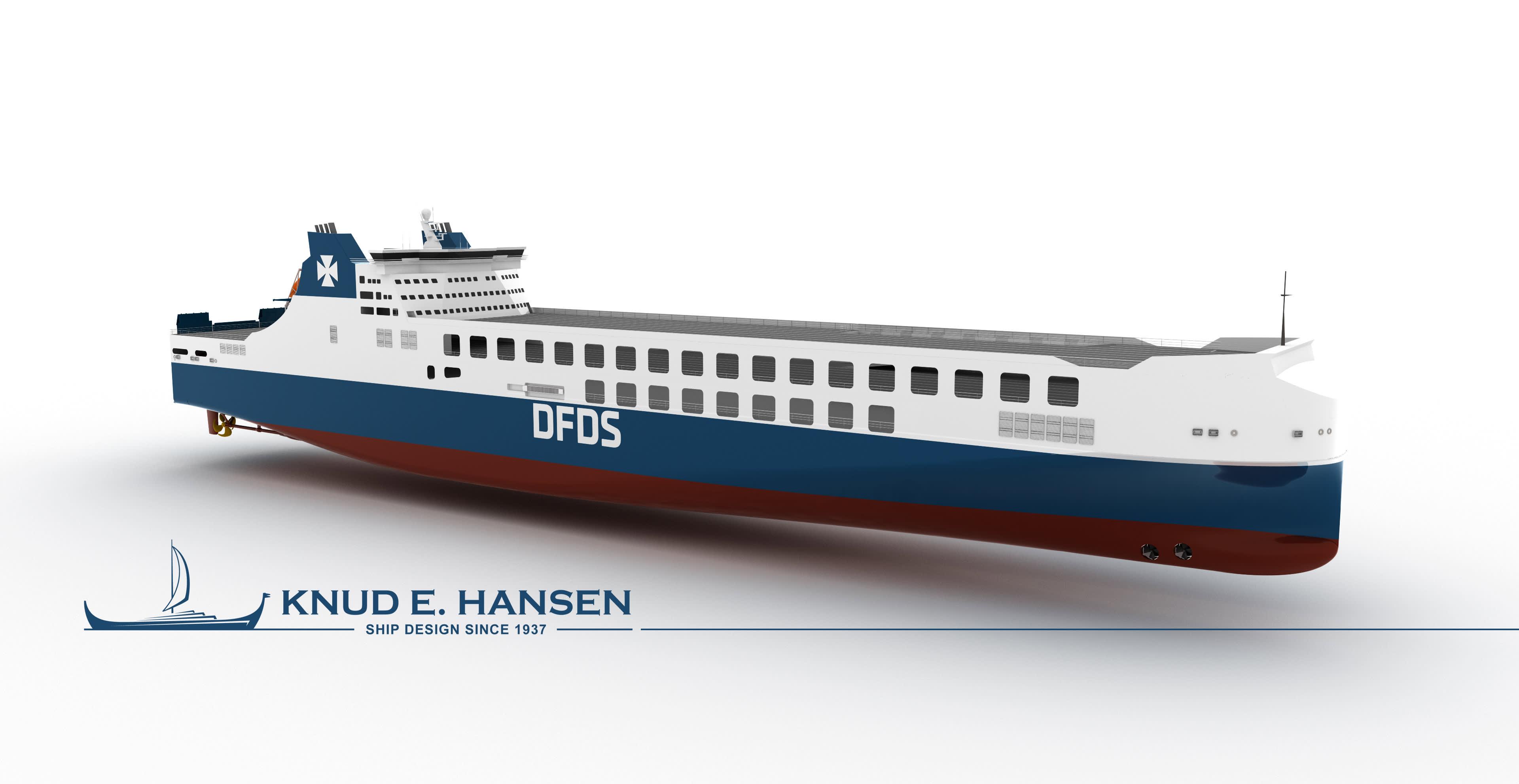 CSC Jinling Shipyard. DFDS. RoRo design by KNUD E. HANSEN 2