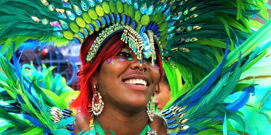 Black dancer at carnival