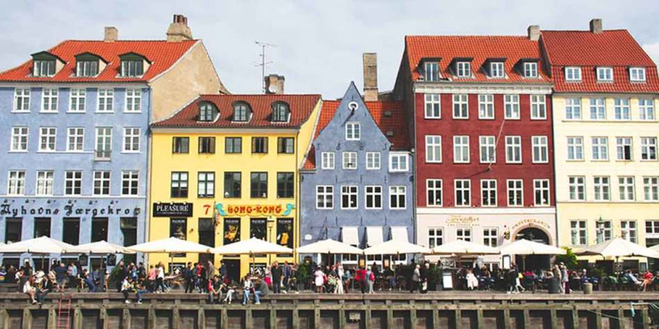 Buildings on the river in Nyhavn, Copenhagen