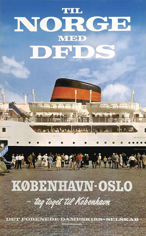 car-020 Poster tradition, Til Norge med DFDS