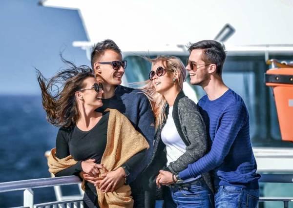 Friends onboard Klaipeda-Karlshamn