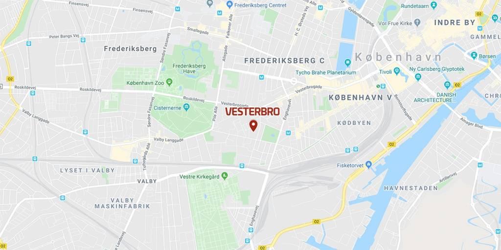 Kart - Vesterbro - København