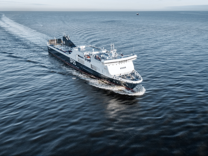 DFDS vessel Athena Seaways at sea