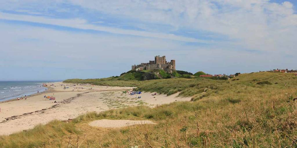 Bamburgh Castle Northumbria Coast