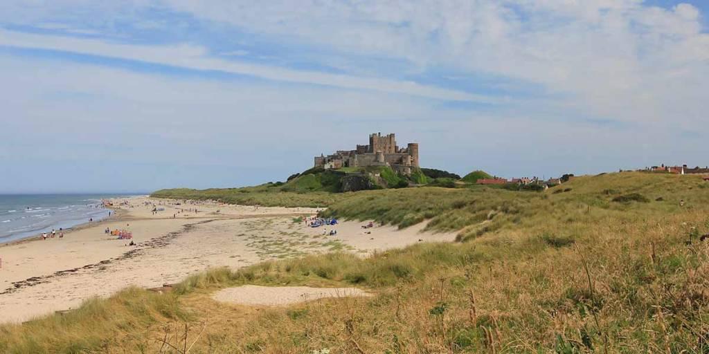 Bamburgh Castle Northumbria Coast