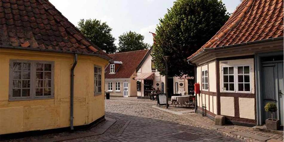 Picturesque buildings in Denmark