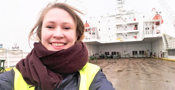 DFDS trainee Elisabeth Andreassen in Fredericia