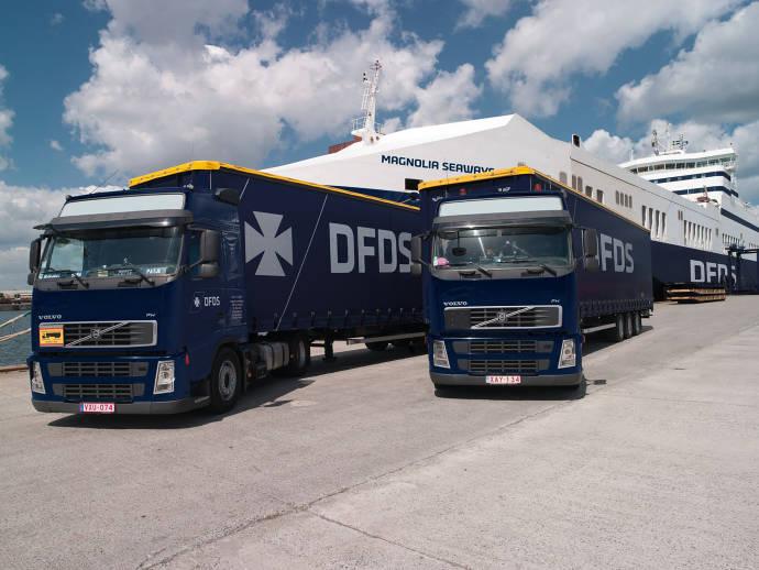 DFDS truck Magnolia Seaways