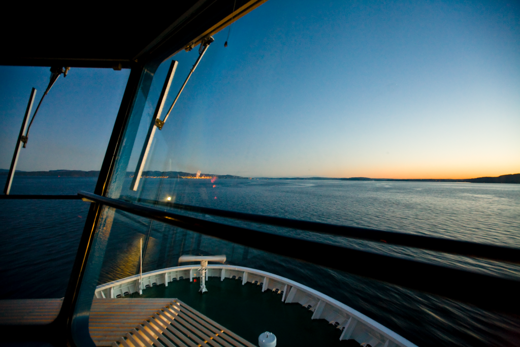 view from the captain's deck