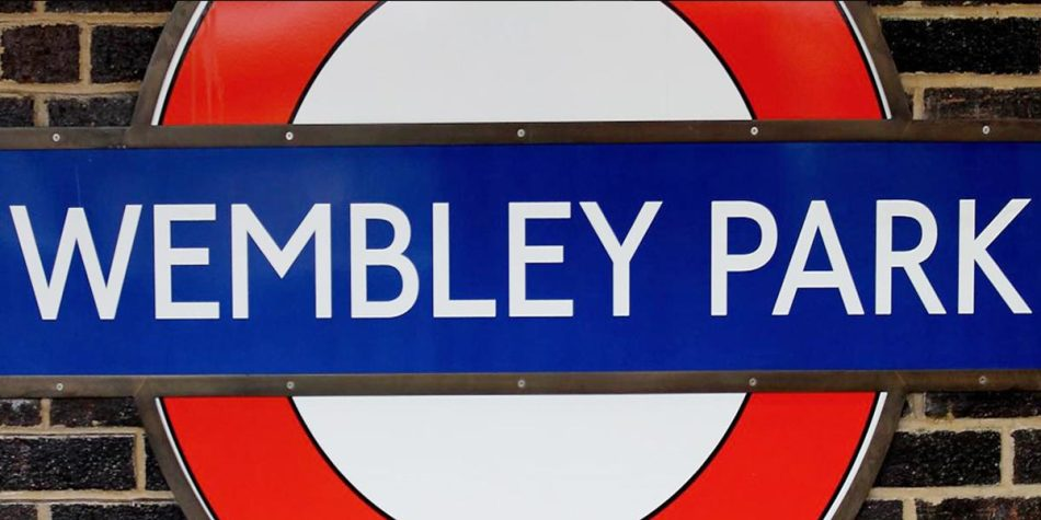 Wembley Park tube station sign