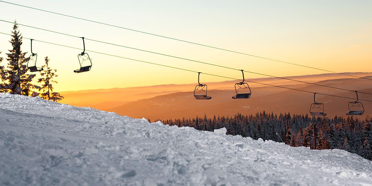 Oslo winter park - ski lift