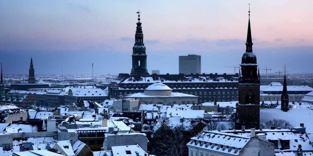 winter skyline in Copenhagen