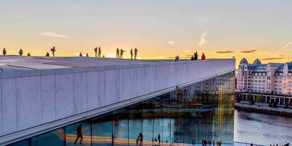 Oslo at sunset