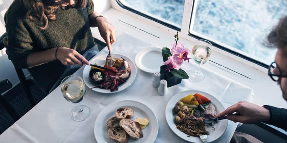 Onboard Newcastle-Amsterdam restaurant