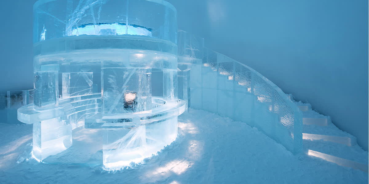 Ice hotel in Sweden
