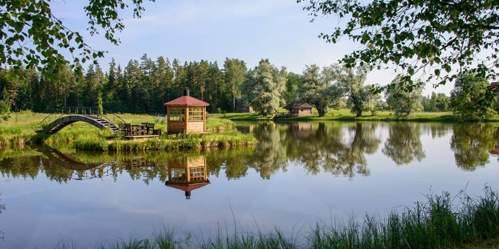Lake and sauna
