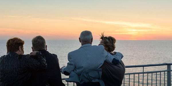 Elderly passengers on deck