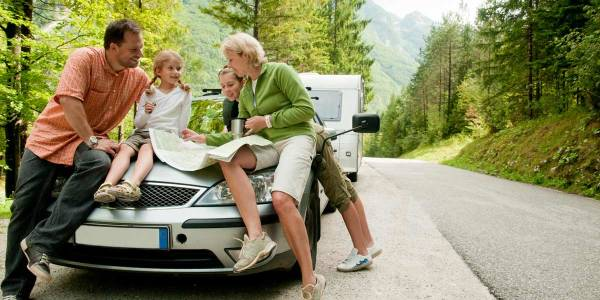 Family travel by car