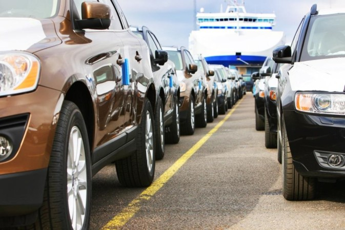 Cars in a DFDS terminal