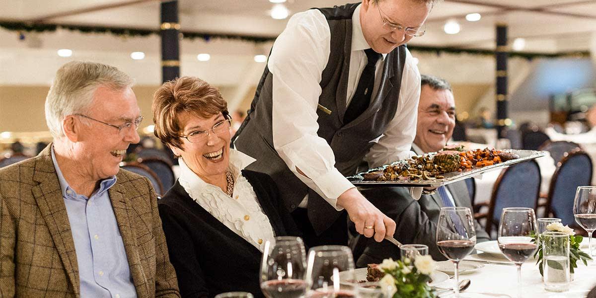 Blue Riband restaurant ombord Copenhagen-Oslo