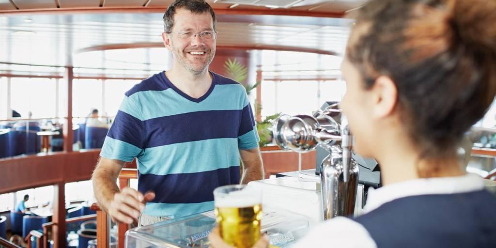 Newhaven- Dieppe bar onboard