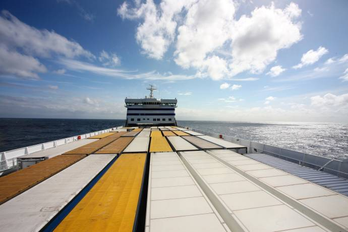 DFDS Containers - Containers on a DFDS vessel