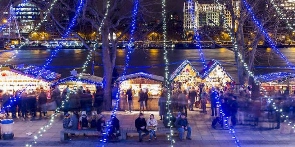 Southbank Centre during Christmas, Britain