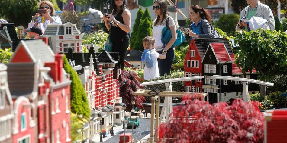 Miniature village made of lego at legoland