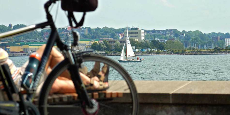 A view of the city of Kiel in Germany