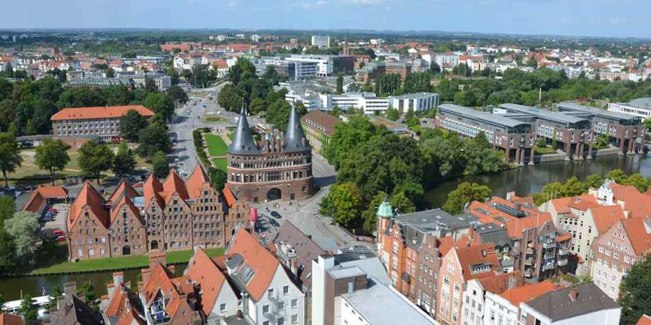 Arial view of Lubeck