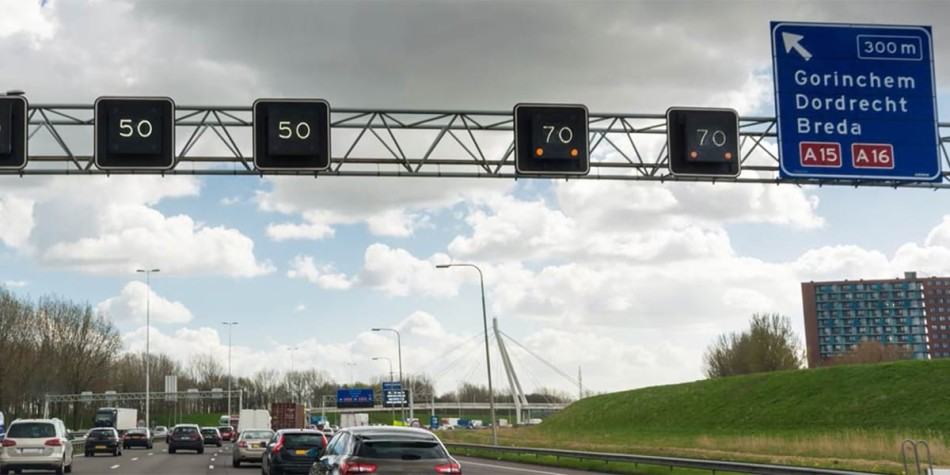 Speed limit signs in Holland