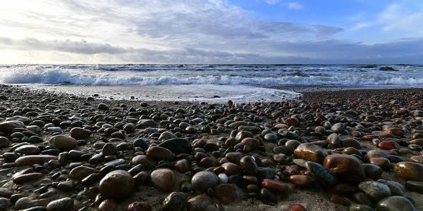 Baltic sea - pebble beach