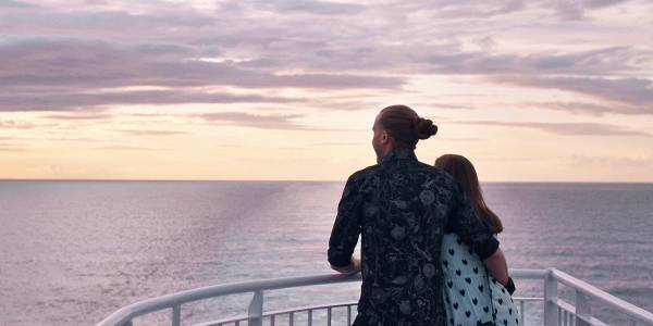 Couple onboard DFDS ferry