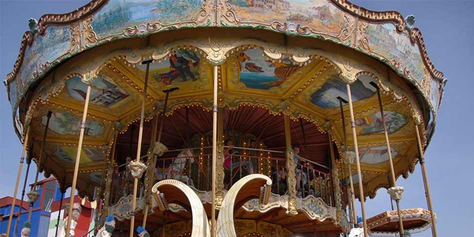 A carousel ride at Tusenfryd, the amusement park in Norway