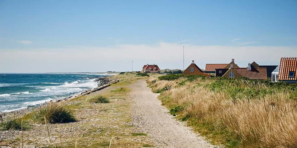 The coastline in Skagen, Denmark