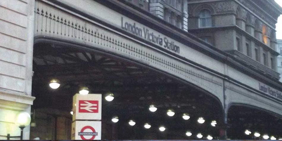 London Victoria tube station