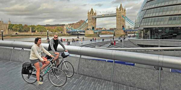 Cycling in London -Hero