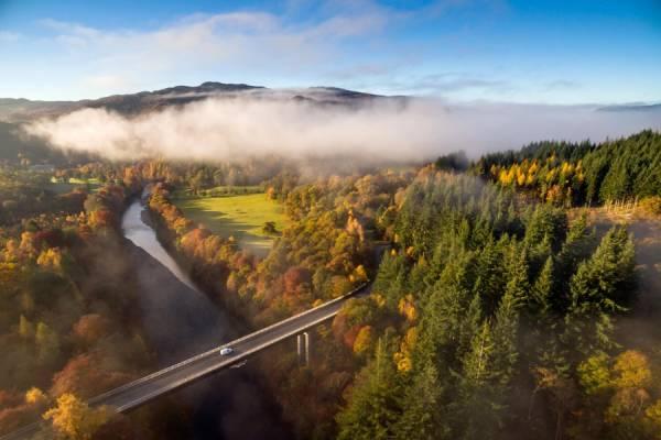 Scottish Highlands Pitlochry river Garry