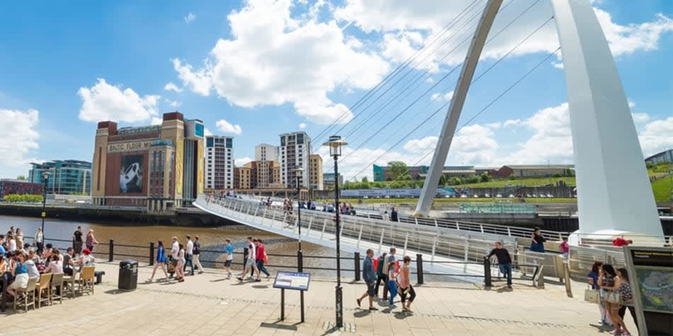 Newcastle Quayside Millennium Bridge and Baltic
