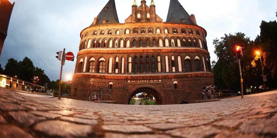 Artistic shot of a building in Lubeck