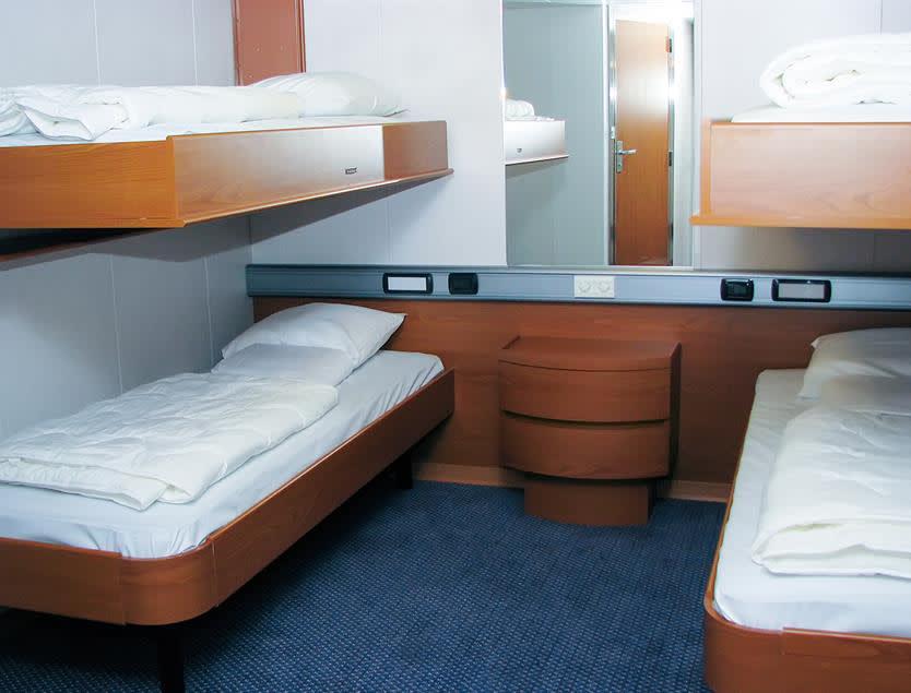 4 berth inside cabin onboard Klaipeda-Kiel