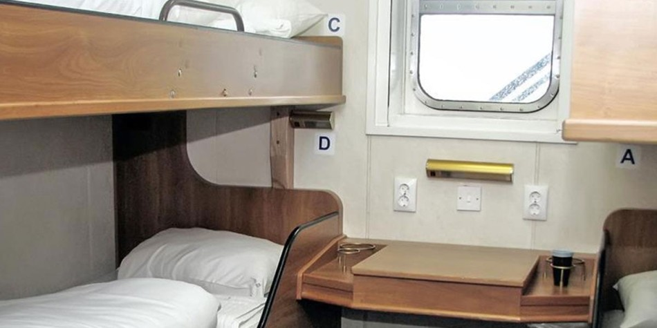 Pet friendly cabin onboard DFDS ferry