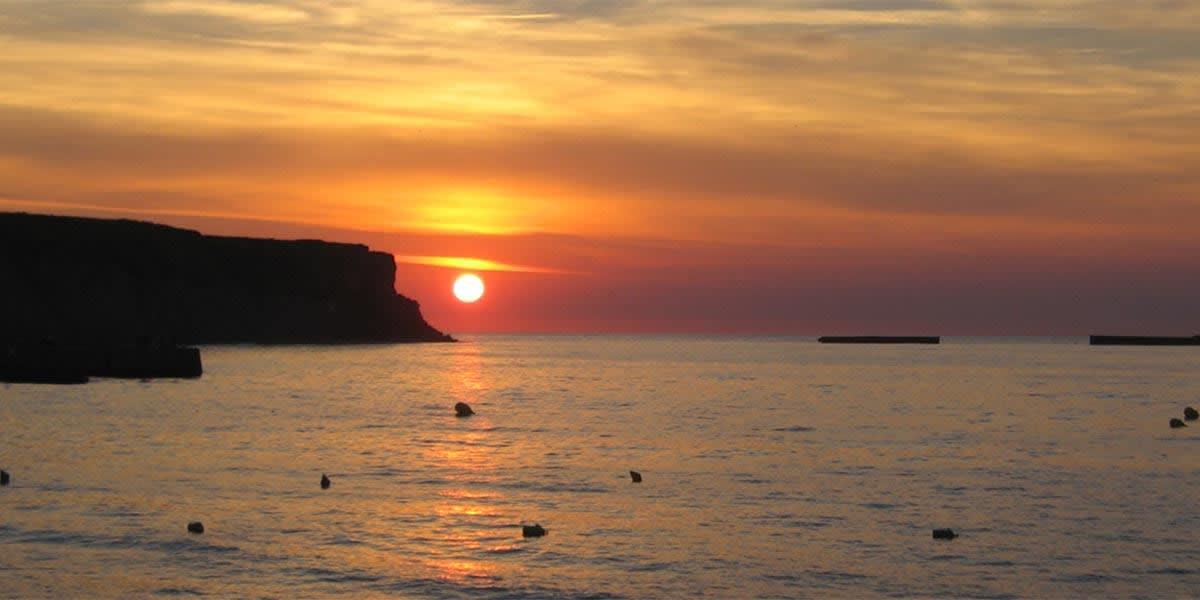Beach sunset caen France