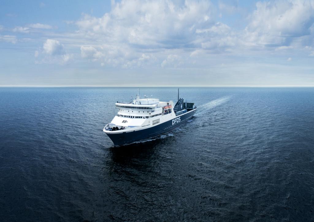 Liverpool Seaways Fähre auf dem Meer