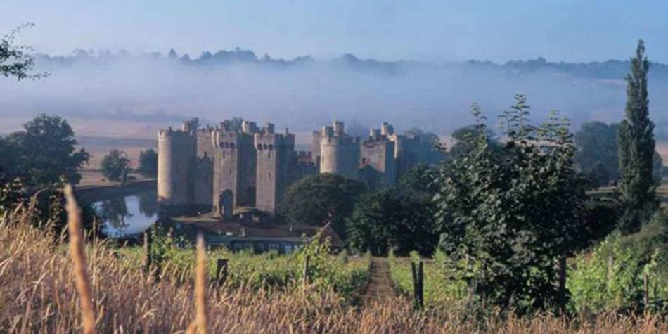 Mist settling above Bodiam in Sussex