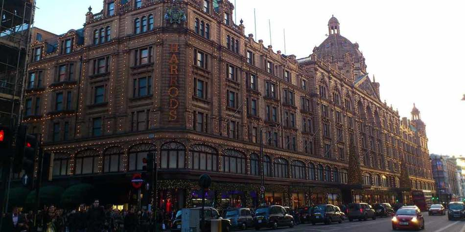 Harrods luxury shopping in London