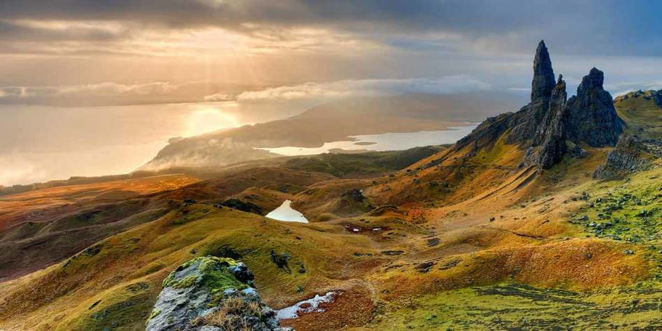 Stunning view of the Isle of Skye in Scotland