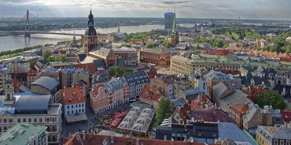 Latvia from above